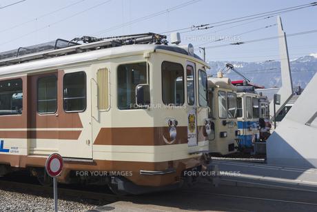 スイス エイグルでの登山列車の素材 [FYI01082633]