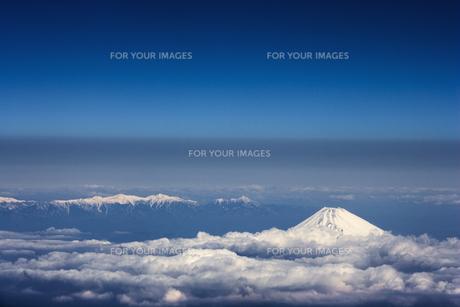 富士山 空撮の素材 [FYI01082805]