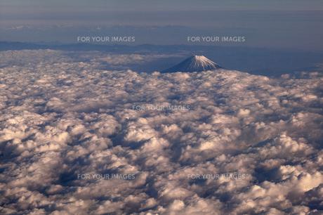 富士山 空撮の素材 [FYI01082808]