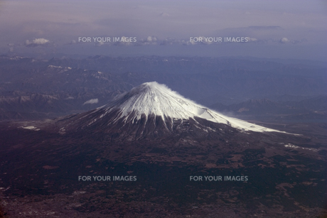 富士山 空撮の素材 [FYI01083375]