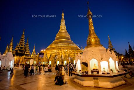 ヤンゴンのシュエダゴォン・パヤー夜景の素材 [FYI01089951]