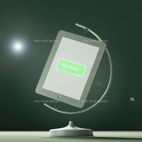 タブレットPCの形をした地球儀の素材 [FYI01095554]