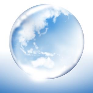ガラスの地球の素材 [FYI01095777]