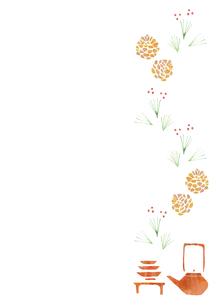 お正月小物のパターンの素材 [FYI01106780]