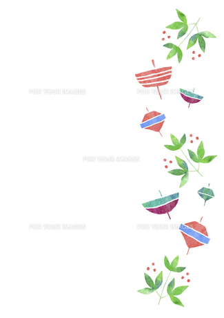 お正月小物のパターンの素材 [FYI01106797]