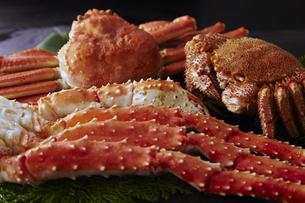 タラバ蟹,毛蟹,ズワイガニ4種セットの素材 [FYI01110653]