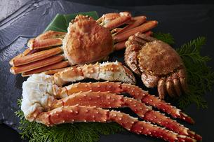 タラバ蟹,毛蟹,ズワイガニ3種セットの素材 [FYI01110840]