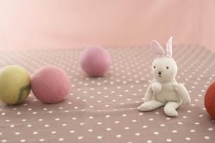 ウサギの人形とボールの素材 [FYI01129017]