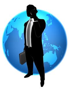 シルエット人物のビジネスイメージと世界の素材 [FYI01135842]