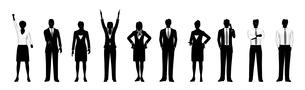 シルエット人物のビジネスイメージの素材 [FYI01135845]