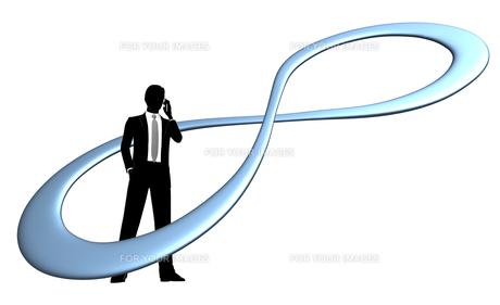 シルエット人物のビジネスイメージと無限大の素材 [FYI01135869]