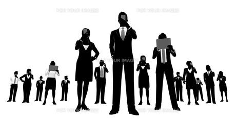 シルエット人物のビジネスイメージの素材 [FYI01135891]