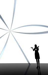 シルエット人物のビジネスイメージとリングの素材 [FYI01135908]