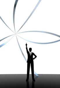 シルエット人物のビジネスイメージとリングの素材 [FYI01135911]