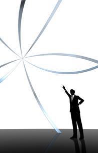 シルエット人物のビジネスイメージとリングの素材 [FYI01135912]