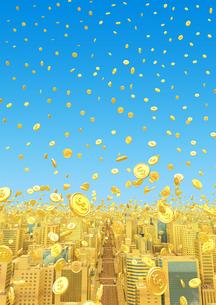 ビルの街とコイン、金の素材 [FYI01135932]