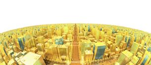 ビルの街、金の素材 [FYI01135942]