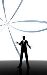 シルエット人物のビジネスイメージとリングの素材 [FYI01135953]