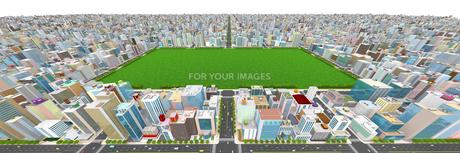 ビルの街と緑地の素材 [FYI01135971]