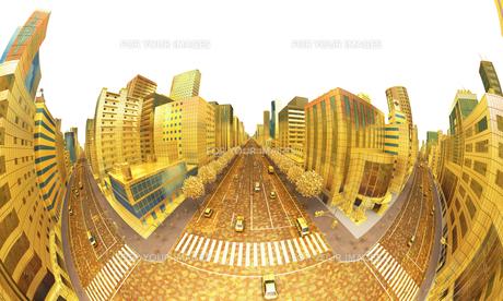 ビルの街、金の素材 [FYI01135978]