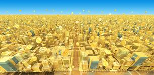 ビルの街とコイン、金の素材 [FYI01135979]