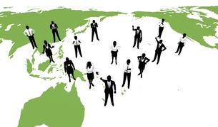 シルエット人物のビジネスイメージと世界の素材 [FYI01135988]