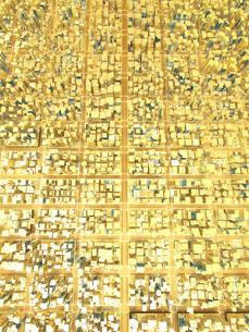 ビルの街、金の素材 [FYI01136007]