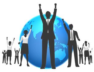 シルエット人物のビジネスイメージと世界の素材 [FYI01136079]