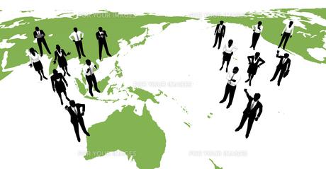 シルエット人物のビジネスイメージと世界の素材 [FYI01136313]