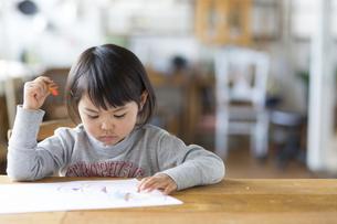 お絵描きをする子供の素材 [FYI01136575]