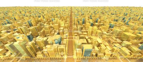 ビルの街、金の素材 [FYI01136599]