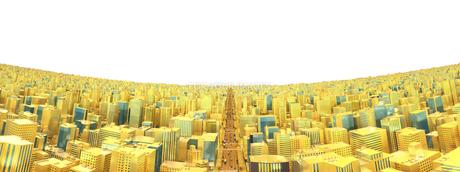 ビルの街、金の素材 [FYI01136606]