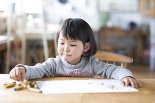 お絵描きをする子供の素材 [FYI01136704]