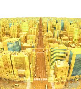ビルの街、金の素材 [FYI01137049]
