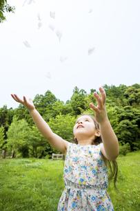 羽を舞い上げる女の子の素材 [FYI01138652]