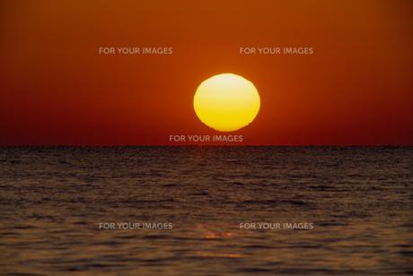 夕日と海の素材 [FYI01143951]