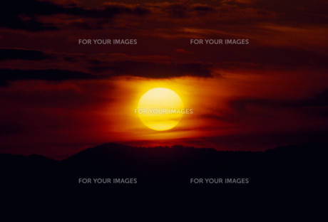 夕日の素材 [FYI01145539]