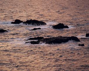 夕景の海と岩の素材 [FYI01146031]
