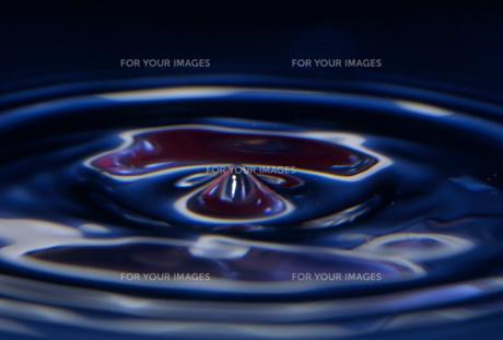 水面の波紋の素材 [FYI01146167]