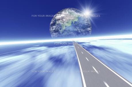 地球と道路イメージ CGの素材 [FYI01146592]