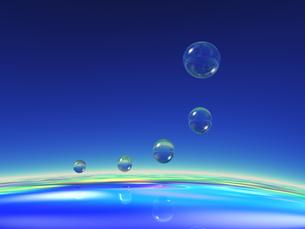 浮かぶ水の球体 CGの素材 [FYI01153813]
