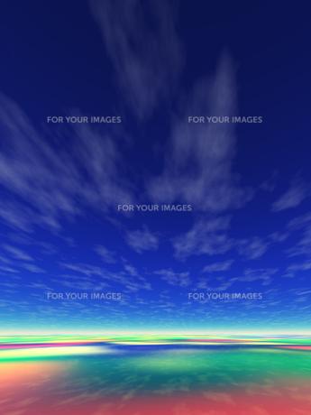 虹色の海 CGの素材 [FYI01153823]