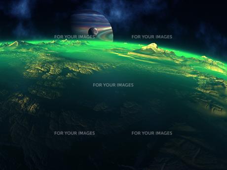 緑色の惑星 CGの素材 [FYI01153837]