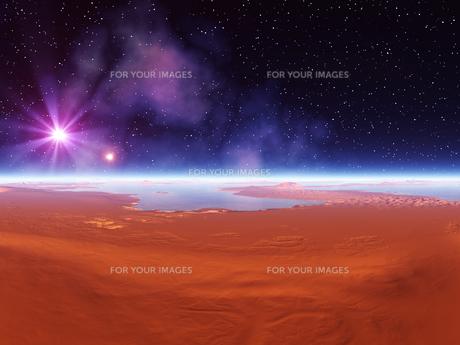 惑星の地表と宇宙 CGの素材 [FYI01153853]