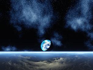 惑星と地球 CGの素材 [FYI01153872]