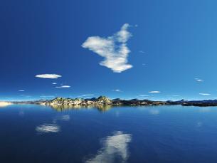 海と崖のある島 CGの素材 [FYI01153877]