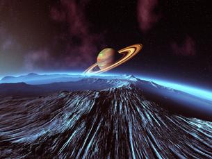 惑星から見た土星 CGの素材 [FYI01153891]