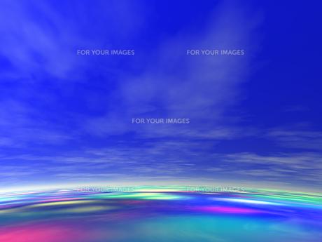虹色の海 CGの素材 [FYI01153958]