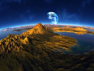 惑星から見た地球 CGの素材 [FYI01153962]