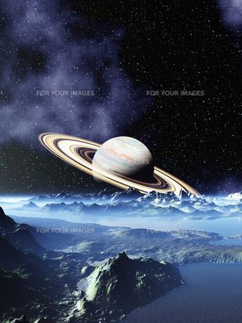 ドーナツ惑星と幻想宇宙の素材 [FYI01154032]